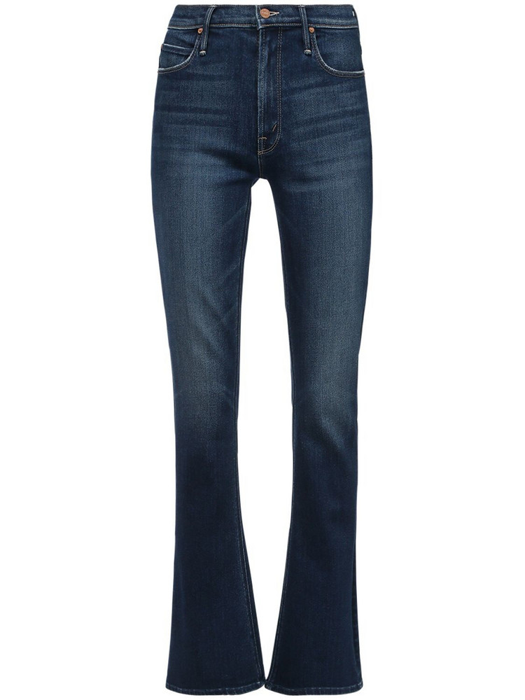 MOTHER The Runaway High Rise Flared Jeans in blue