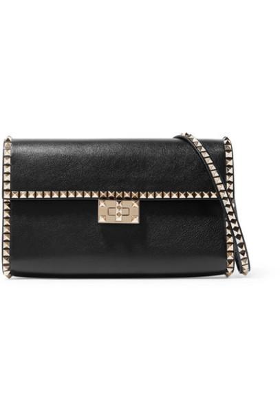 Valentino - Valentino Garavani The Rockstud No Limit Textured-leather Shoulder Bag - Black