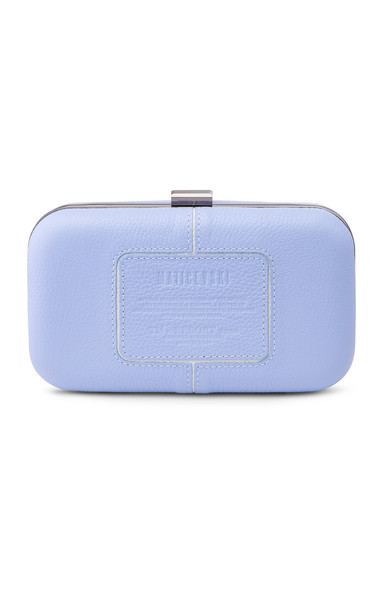 Maticevski Blushing Leather Clutch in blue