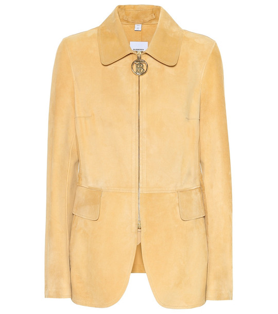 Burberry Monogram suede riding jacket in beige
