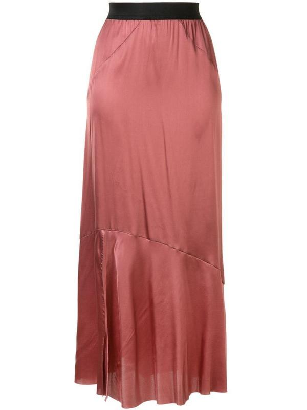 Ann Demeulemeester straight fit slip skirt in pink