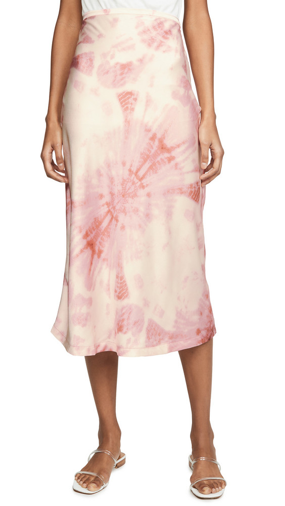 Lioness Tie Dye Skirt in pink