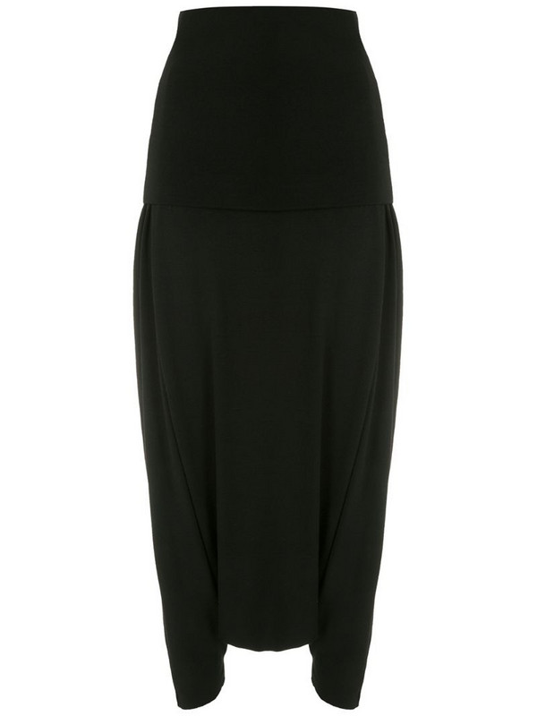 Uma - Raquel Davidowicz Georgia wool maxi skirt in black