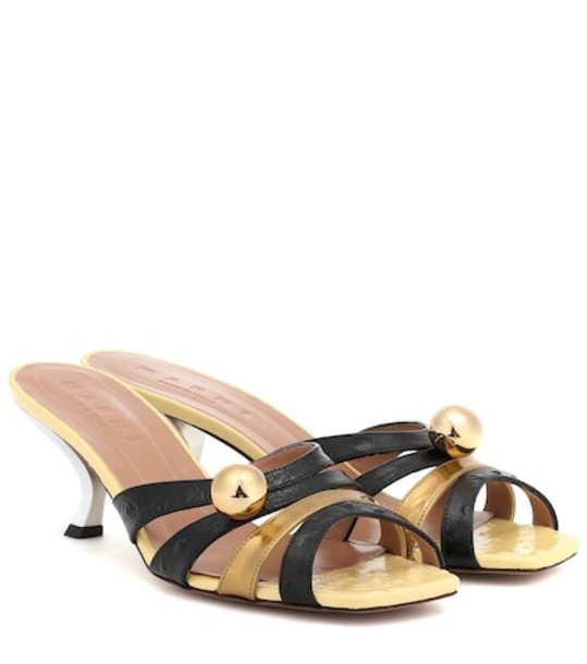 Marni Leather sandals in gold