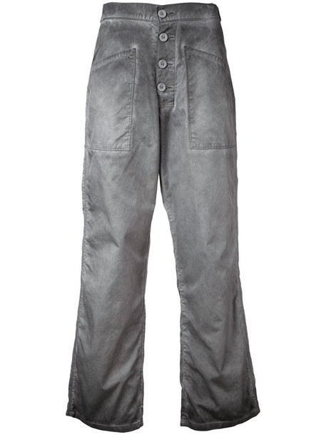 RtA cropped flared jeans in grey