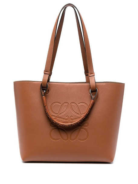 LOEWE Anagram-debossed tote bag in brown
