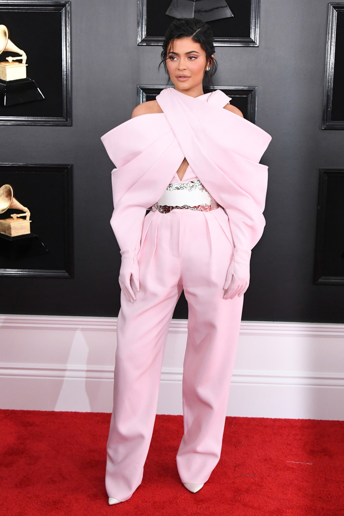 shoes kylie jenner kardashians celebrity pants top pumps grammys red carpet