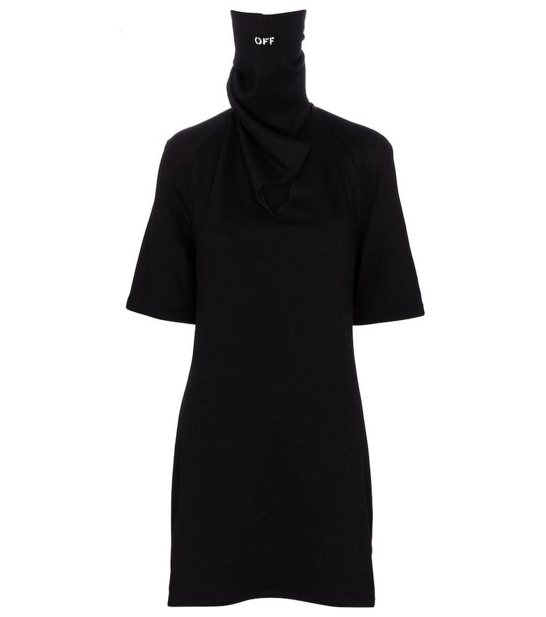 Off-White Bandana cotton jersey minidress in black