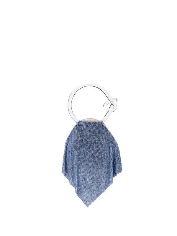 Benedetta Bruzziches Casper mesh clutch in blue