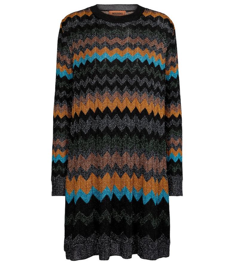 Missoni Zig-zag metallic knit minidress