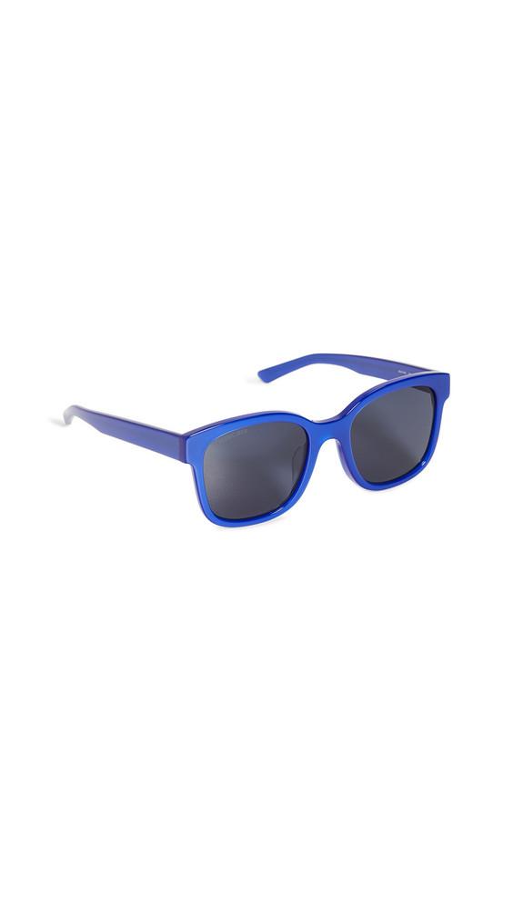Balenciaga Block Oversize Square Acetate Sunglasses in blue