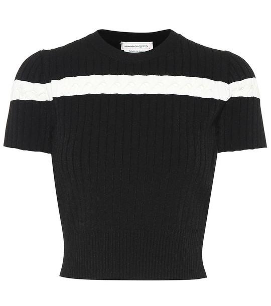 Alexander McQueen Knit top in black