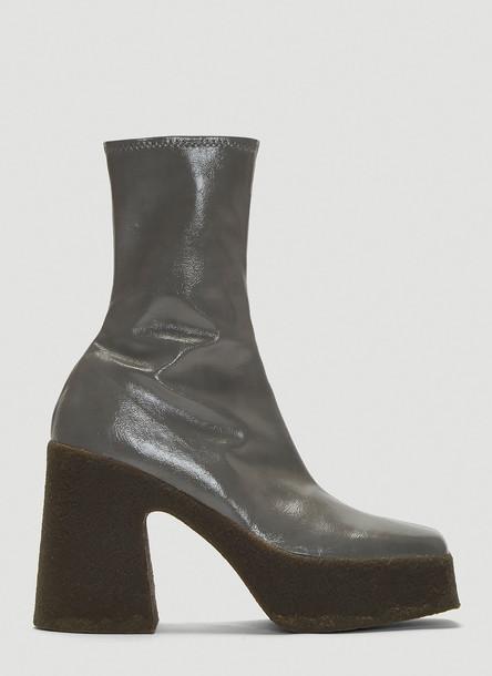 Stella Mccartney Faux Leather Boots in Grey size EU - 39