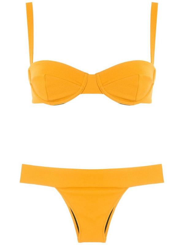 ESC crepe Estruturado bikini set in yellow