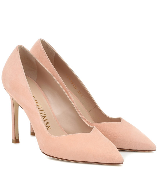 Stuart Weitzman Anny 95 suede pumps in pink