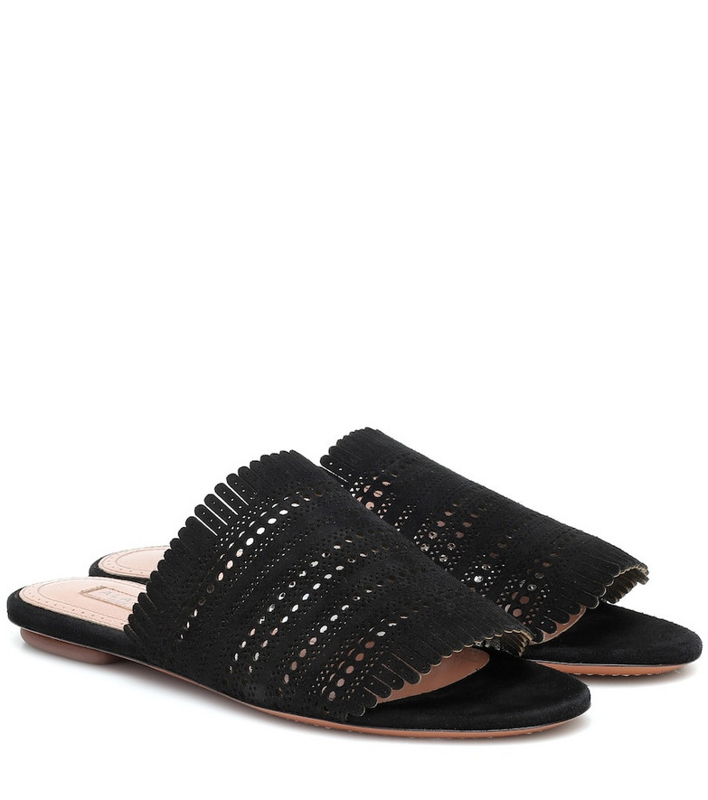 Alaïa Suede sandals in black