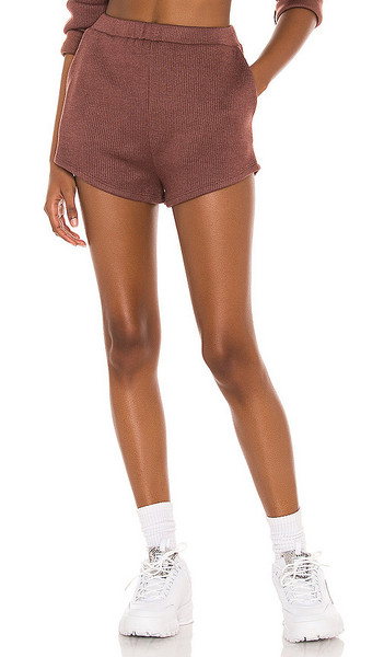Lovers + Friends Lovers + Friends Darby Short in Brown in chocolate