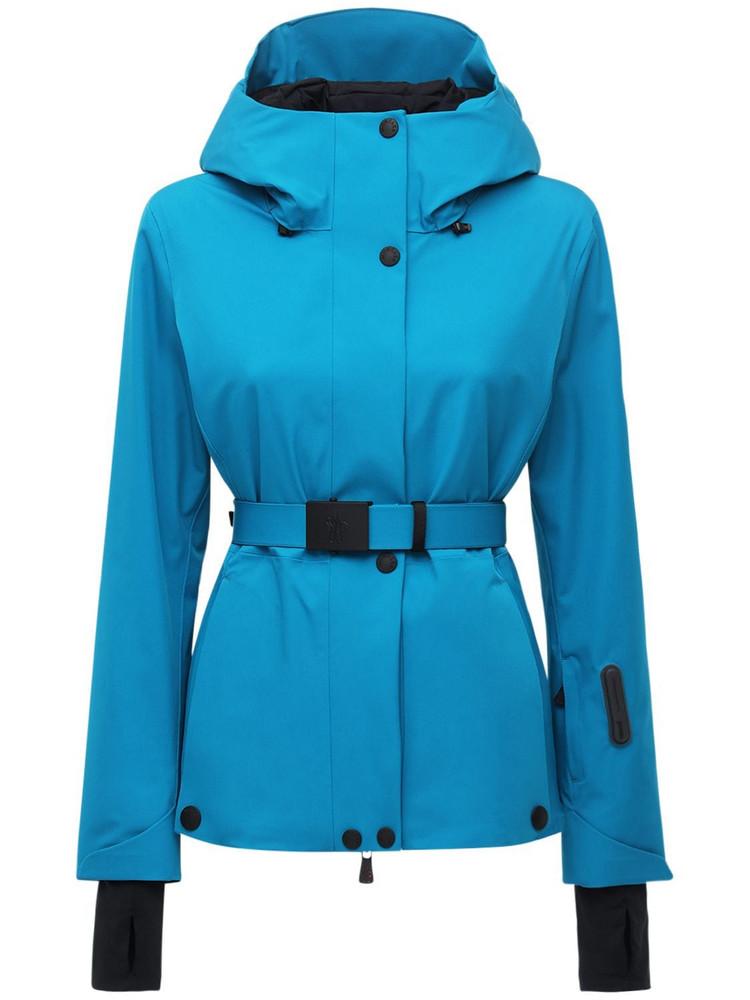 MONCLER GRENOBLE Lignan 4 Way Stretch Tech Nylon Jacket in blue