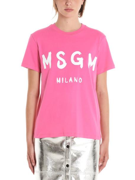 Msgm T-shirt in fuchsia