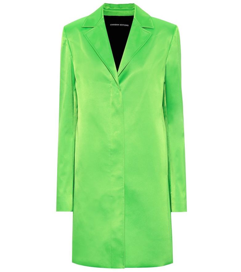 Kwaidan Editions Single-breasted coat in green