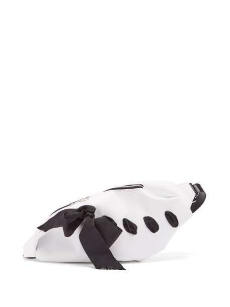 Marques'almeida - Ribbon Trim Leather Belt Bag - Womens - White Multi