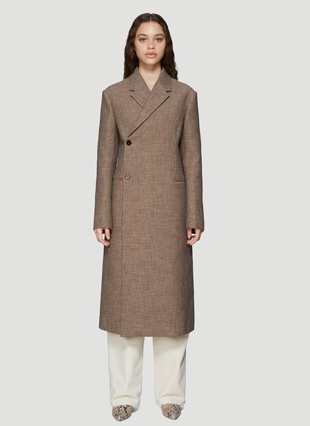 Jil Sander Double-breasted Coat in Brown size DE - 36