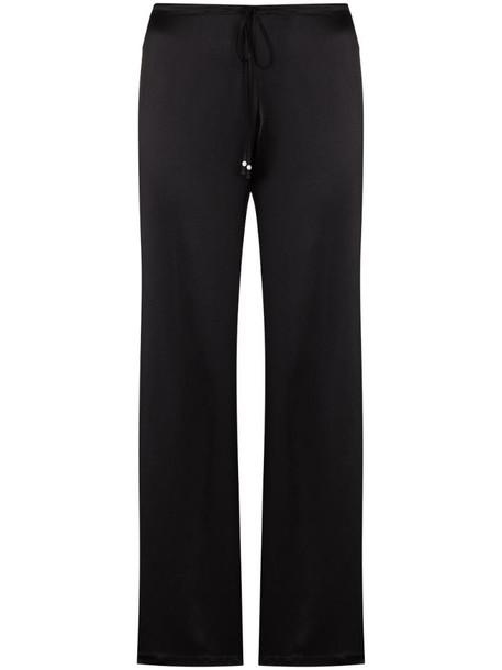 La Perla drawstring-waist silk pyjama trousers in black