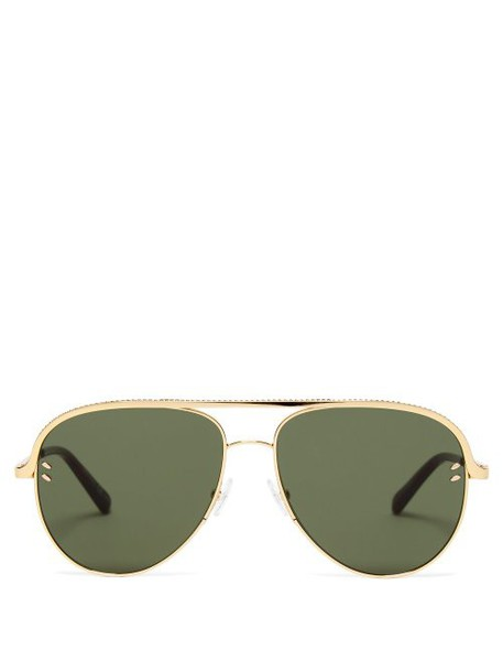 Stella Mccartney - Chain Aviator Sunglasses - Womens - Gold