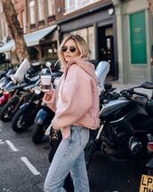 coat,jacket,topshop,model off-duty,instagram,fashion inspo,fashion vibe,streetstyle,streetwear,pink,millenial