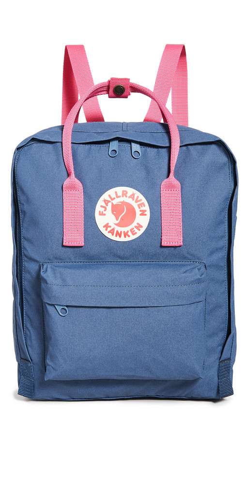 Fjallraven Kanken Backpack in blue / pink