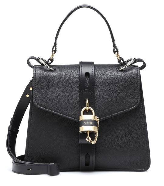 Chloé Aby Medium leather shoulder bag in black