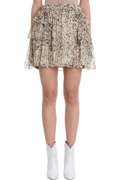 IRO Moody Leopard Viscose Skirt