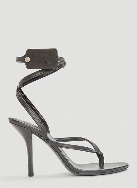 Off-White Zip Tie Multi-Strap Sandals in Black size EU - 38