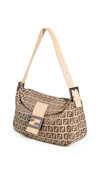What Goes Around Comes Around Fendi Brown Zucchino Shoulder Bag