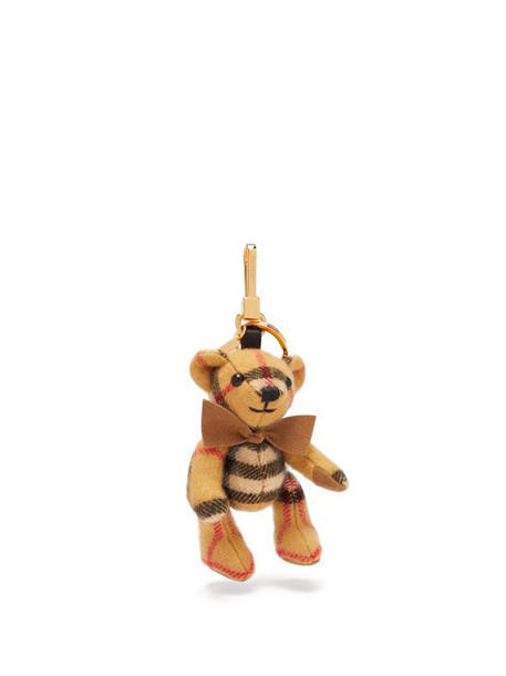 Burberry - Thomas Bear Vintage Check Cashmere Key Ring - Womens - Brown Multi