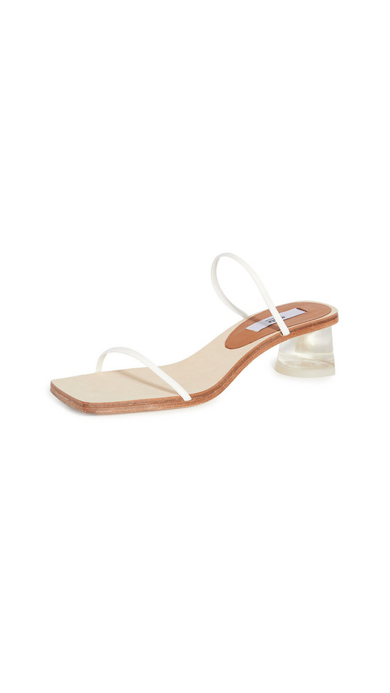 Miista Ellie Slides in white