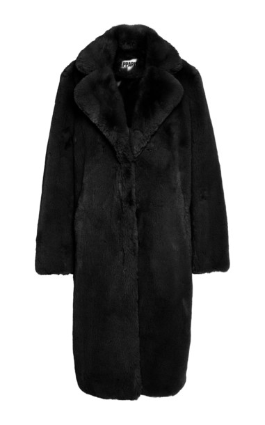 Apparis Siena Long Lined Coat Size: XL in brown