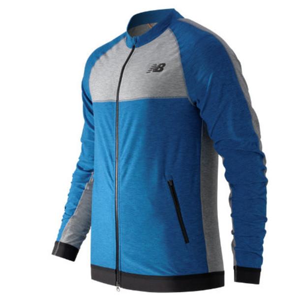 New Balance 61031 Men's N Transit Track Jacket - Sonar Heather, Athletic Grey Heather (MJ61031SOH)