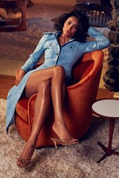 dress,editorial,ciara,celebrity,leather,leather dress,blue