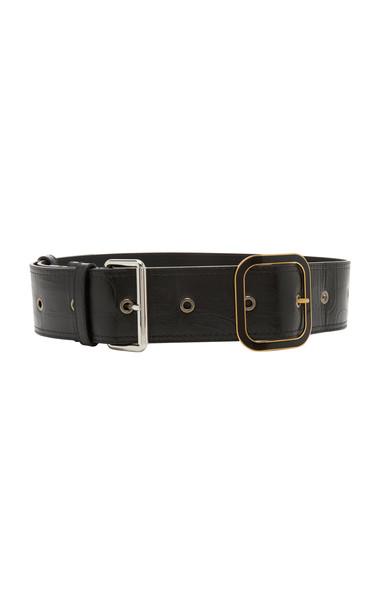 Marni Calf Hair Belt Size: 80 cm in black