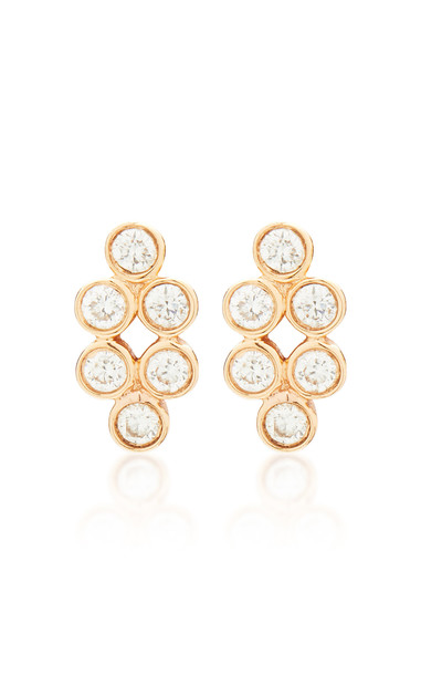 Devon Woodhill Harlequin 18K Rose Gold And Diamond Earrings in pink