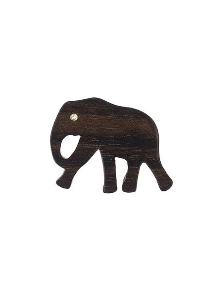 Marc Alary Elephant charm pendant in brown