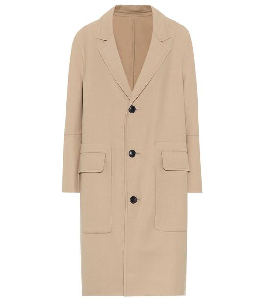 AMI Wool-blend coat in beige