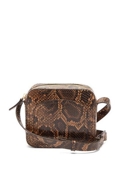 A.P.C. A.p.c. - Louisette Python Print Leather Cross Body Bag - Womens - Python