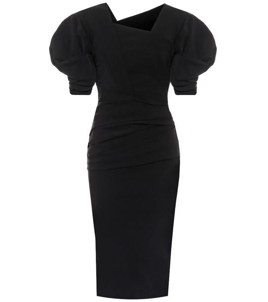 Preen by Thornton Bregazzi Onnora ruched stretch-crêpe dress in black