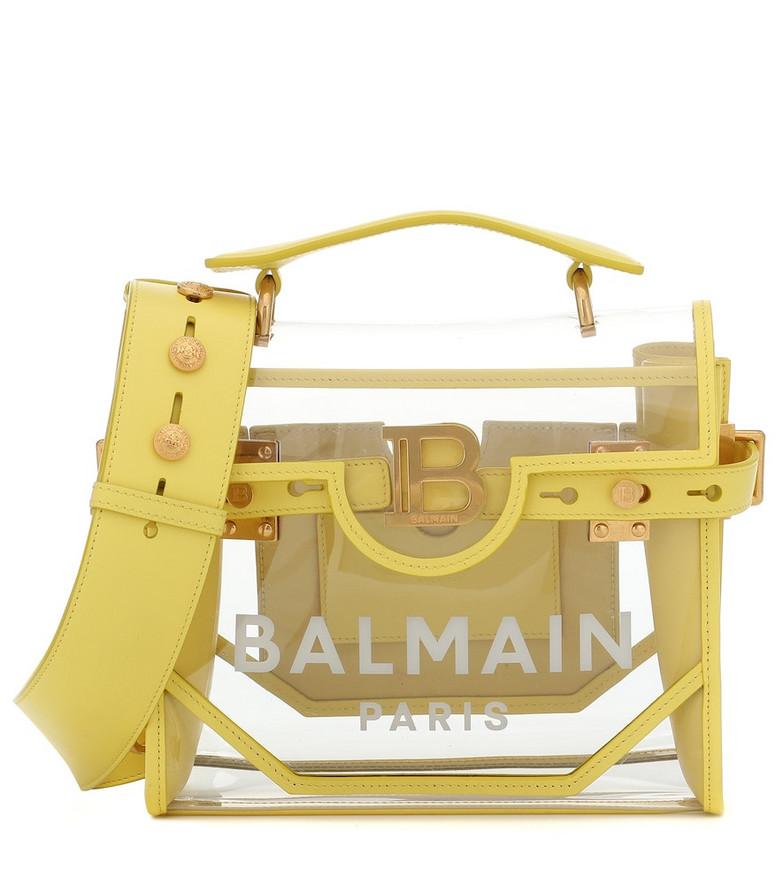Balmain B-Buzz 30 PVC shoulder bag in yellow