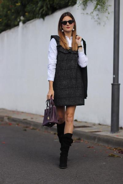 marilyn'scloset blogger dress jacket bag shoes sunglasses jewels