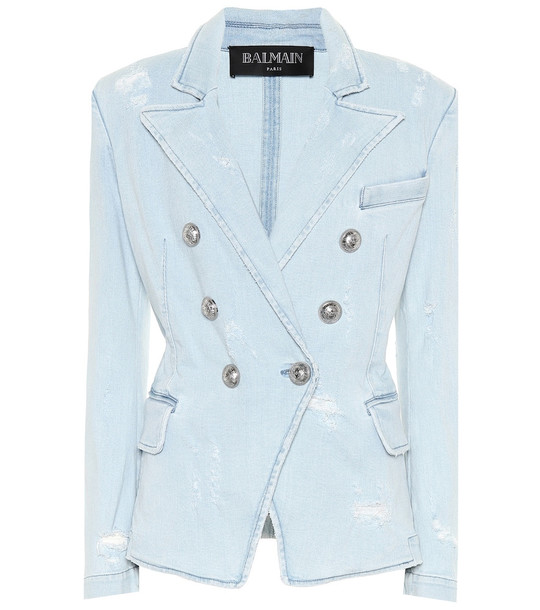 Balmain Denim blazer in blue