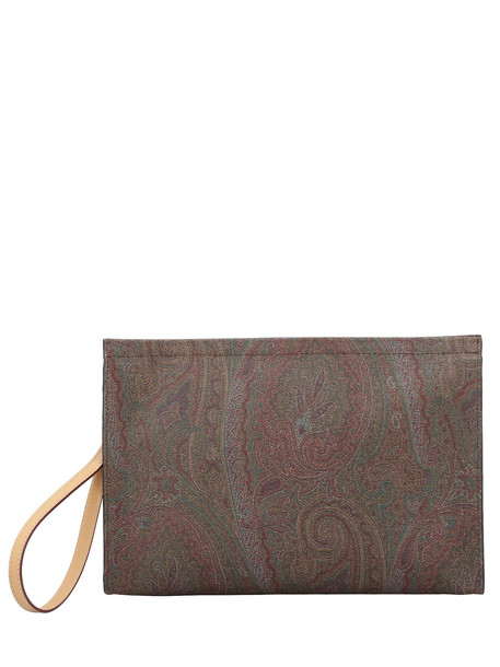 Etro Paisley Patterned Clutch in multi