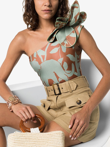 Johanna Ortiz Buckets of Rain jungle-print swimsuit